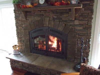 Napoleon Built in high efficiency fireplace