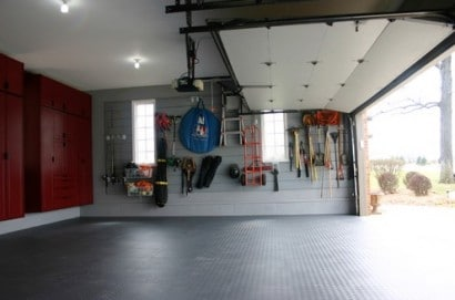 decluttered garage
